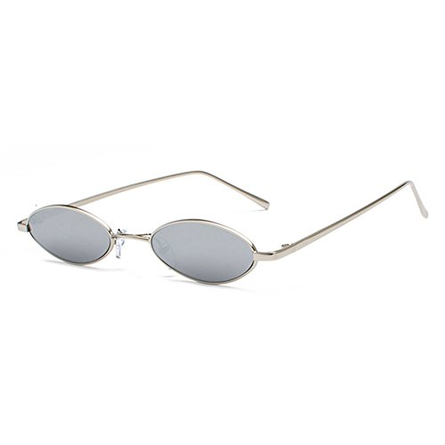 Pequeñas UV400 C8 sol Mujeres ovaladas Pequeñas de Vintage gafas sol Highdas gafas de Hombres Retro O6zanwUn