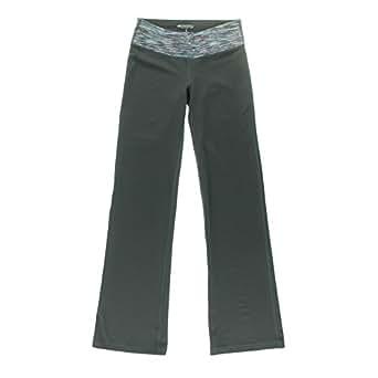 Ideology Women's Space-Dye Bootcut Yoga Pants Deep Charcoal Medium