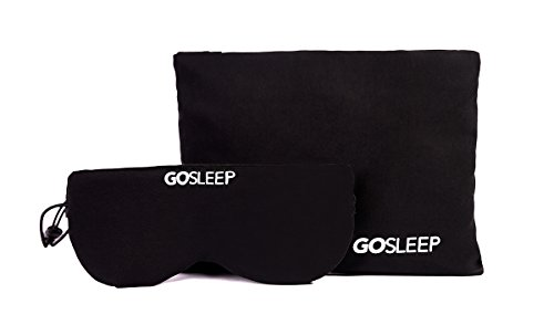 GOSLEEP Travel Pillow - Sleep Mask and Memory Foam Pillow That Prevents Head Bobbing and Blocks Light for Better Sleep During Road and Air Travel - Jet Black
