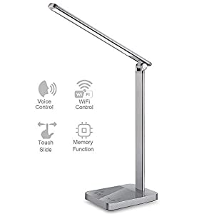 """Why Choose NAPATEK LED Desk Lamp?1. A """"SMART"""" led desk lampa. Voice remote controlRemotely control the light ANYWHERE just with your voice through Amazon Alexa, Echo Dot and Google Home. This unique function you can rarely find in led desk lampsb. Sm..."""