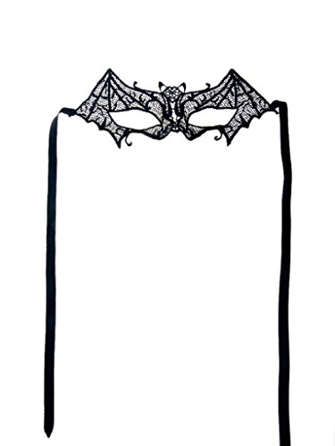 [PERSUN Women's Fancy Crochet Lace Masquerade Party Costume Dnace Ball Eye Mask] (Soft And Sexy Mask)