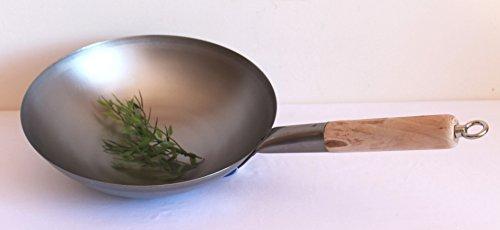 Pfannen Aufhängen aaf nommel wok pfanne runder boden ø 30 cm für gas mit holzgriff