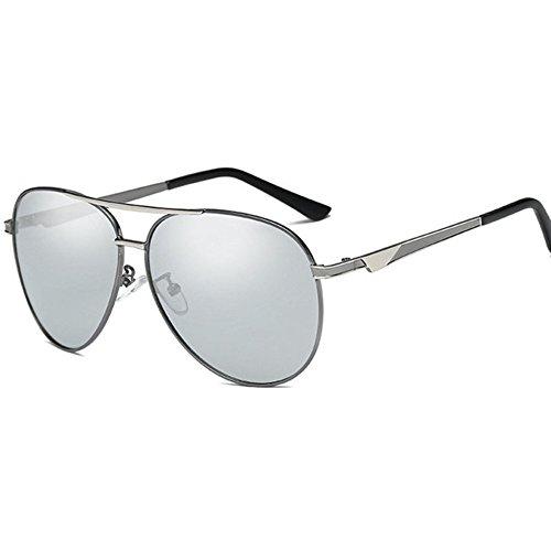 Aoligei Tendance de personnalité hommes lunettes de soleil en métal avec shing lunettes de soleil, lunettes de soleil en plein air de la conduite