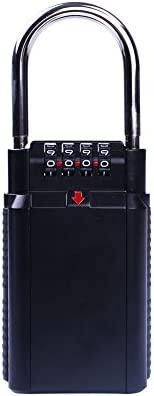 Hanbaili Caixa de bloqueio de chave, caixa de bloqueio de combinação de armazenamento de chave com 4 números d