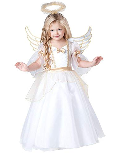 InCharacter Baby Girl's Angel Costume, White, 2T ()