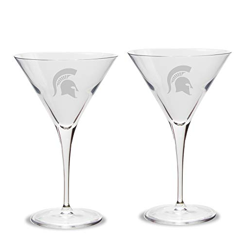 Spartans Luigi Bormioli Titanium Martini Glass - Set of 2, Clear, 10 oz ()