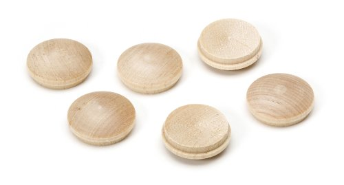 Darice 9118-40 Wooden Furniture Buttons, 1-Inch