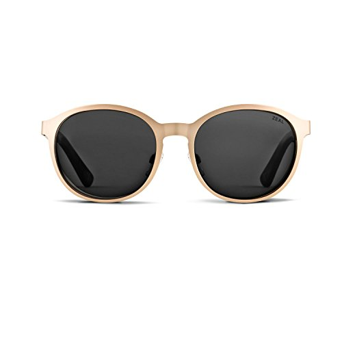 Zeal Optics 6th Street Polarized Sunglasses - Rose Gold Frame, Ellume Polarized Dark Grey - Sunglasses Austin