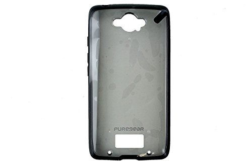 PureGear 61013PG Slim Shell Case for Motorola Droid Turbo - Retail Packaging - Clear/Black
