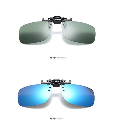 Clip Verde vidrios Accesorios Hombres Light de la oscuro de Lente de los Lentes Sun conducían polarizadas Unisex Las Aprigy Super Clip Que en Gafas Oro Sol SqHHPn