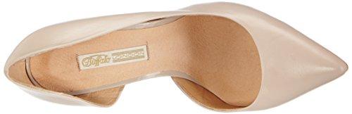 Buffalo London 11622-290 - Zapatos de tacón cerrados de cuero para mujer Beige (Nude 01)