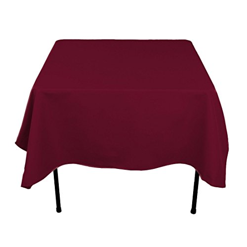 Gee Di Moda Square Tablecloth - 70 x 70 Inch - Burgundy Square Table Cloth for Square or Round Tables in Washable Polyester - Great for Buffet Table, Parties, Holiday Dinner, Wedding & More]()