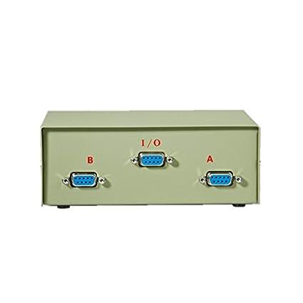 Switch Box Rotronic Datos impresora 9 Pin 1 PC -> 2 ...