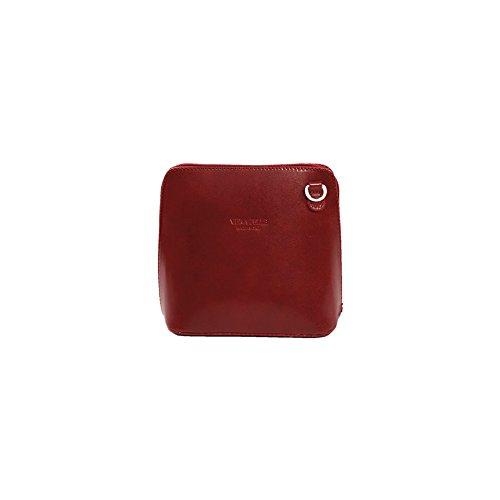 Use Red Cross Benagio Bag Or Genuine Shoulder Dark Italian Leather For YPFqp