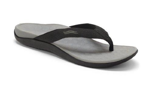 Vionic Unisex Wave Toe Post Sandal, 8 B(M) US Women / 7 D(M) US Men, (Black) by Vionic