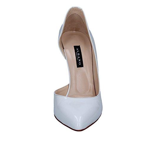 Zapatos De Salón Charol Albano Blanco Mujer T8qfSd