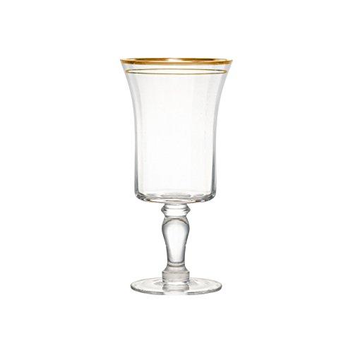 10 Strawberry Street KATEG-GBLT4 Kate Water Goblet, 14 oz, Gold Rim