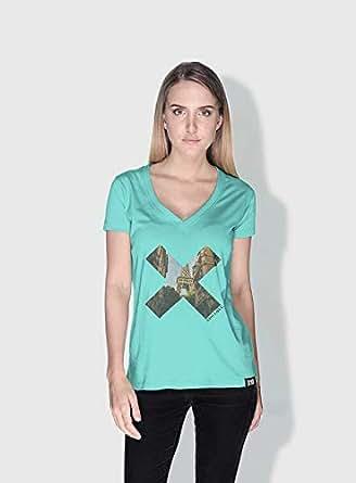 Creo Paris X City Love T-Shirts For Women - M, Green