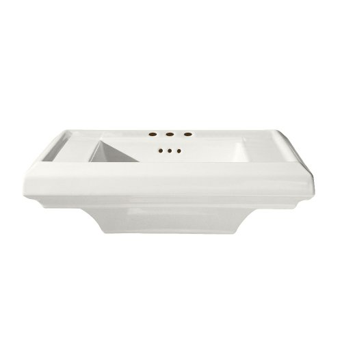 (American Standard 0790.008.020 Town Square 24-Inch Pedestal Sink Top with 8-Inch Faucet Spacing, White)
