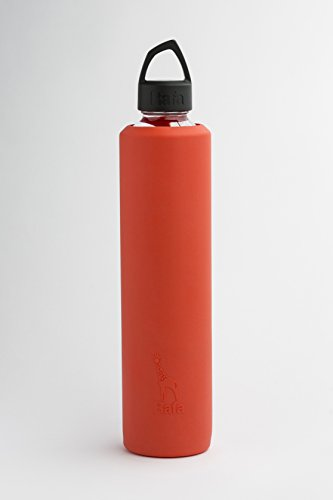 Rafa Sleeve and Lid for 800 ml VOSS Glass Bottle (Sriracha & Black) ()