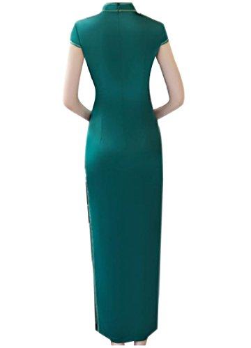 Di Verde Partito donne Fit Piedi Alte Si Feritoie Coolred In Abito Sera Custom Da Stampa Del Levano Collare ZqxwpFgU