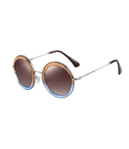Parsons Ms. retro fashion sunglasses polarized sunglasses driver drove driving mirror tide(Light brown)