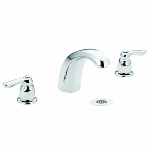 Moen 8924 Commercial M-Bition Widespread Lavatory Faucet with Grid Strainer 1.5 gpm, Chrome