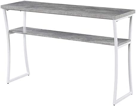 Convenience Concepts X-Calibur Console Table, Faux Birch White Frame