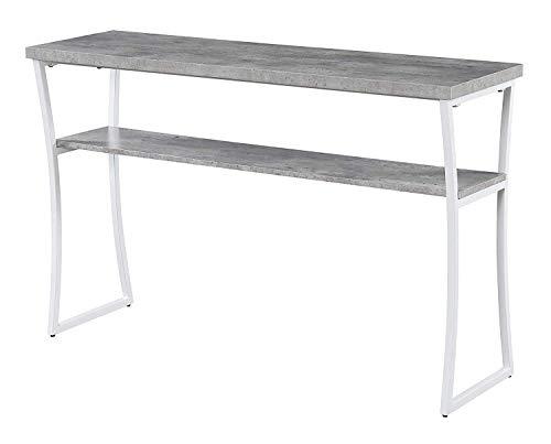 Convenience Concepts X-Calibur Console Table, Faux Birch White Frame,