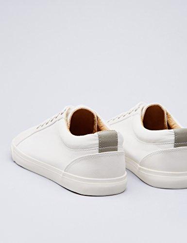 FIND Stringate White Bianco Sneaker Uomo RTrR1Wqc