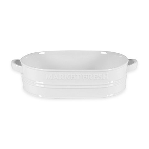 Everyday White by Fitz and Floyd Bistro White ''Market Fresh'' Casserole