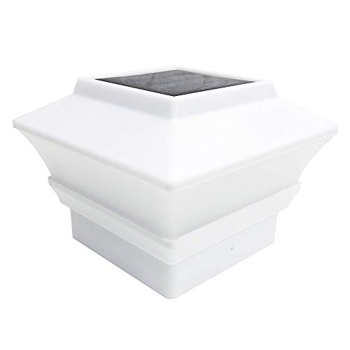 12 Pack Solar White Color Square Post Fence Mount 4x4 (Will Only FIT 4