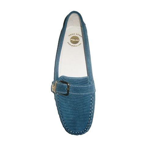 Pielsa 8726 Iguana Baikal - Mocasín conductor de piel para mujer color azul: Amazon.es: Zapatos y complementos