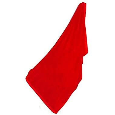 Terry Cotton Velour Oversized Beach Towel, Red