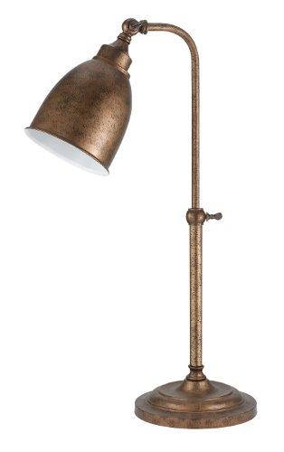 Cal Lighting BO-2032TB-RU Table Lamp with Metal Shades, Rust Finish, 19