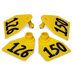 AllFlex Global Large Numbered Calf Ear Tags Yellow 76-100