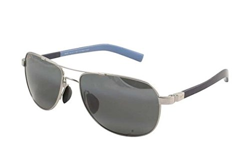 Maui Jim Guardrails 327-17 | Polarized Silver Aviator Frame