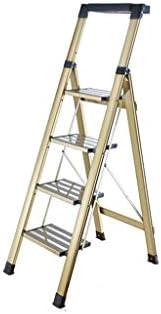 Suministros de construcción Herramienta for el plegado de tijera, ligero Escalera 3 Escalera plegable heces 4 Tread Escalera plegable Con antideslizante/Herramienta de diseño de tabla ahorra espacio: Amazon.es: Bricolaje y herramientas