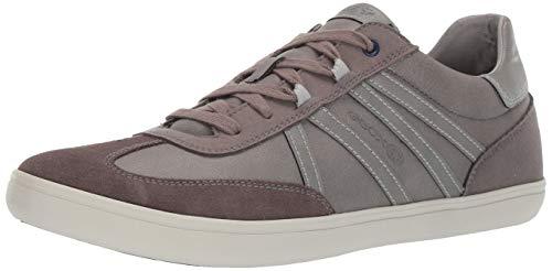 Geox Men's HALVER 4 LACE UP Sneaker, White/Grey, 42 Medium EU (9 US)