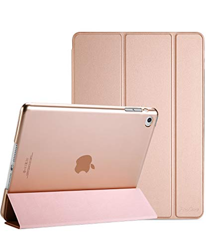 ProCase Smart Case for iPad Air 2 (2014 Release), Ultra Slim Lightweight Stand Protective Case Shell with Translucent Frosted Back Cover for Apple iPad Air 2 (A1566 A1567) -Rosegold ()