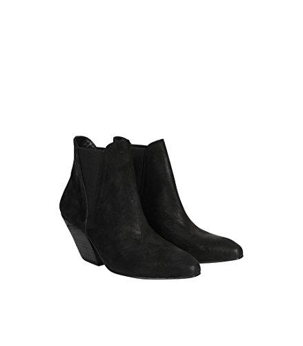 La Margot Avvio Carico Cospirazione Donne Caviglia Pelle Scamosciata In Nero 001 Nero