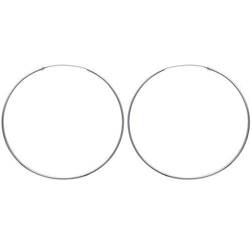 Tousmesbijoux Boucles d'oreilles créoles 70 mm Argent 925/00