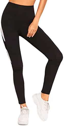 Sayhi Ladies Stitching Breathable Running Yoga Pants Elastic Sports Leggings Control Workout Trousers