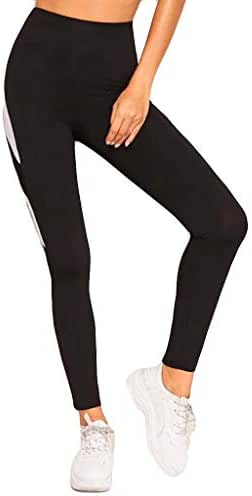 LUXISDE Yoga Pants for Women Stitching Breathable and Slim Hip-Lifting Exercise Running Yoga Pants