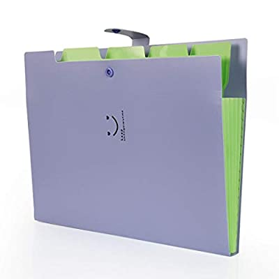 Document Folder, 6 Pack Accordion Document Folder A4 Paper Expanding File Pockets Folder File Organizer, 6 Colors, 12.8 x 9.5 Inch