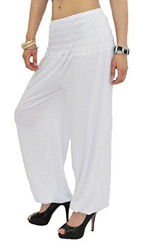 by pour Sarouel Pantalon Pantalon Pantalon tex Femme Harem Yoga Femme Pump de Blanc S01 Dames pour Pantalons TqA4rTx