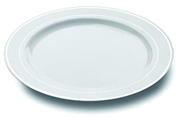 MOZAIK 20 White Silver Rim Plastic Plates 15cm  sc 1 st  Amazon UK & MOZAIK 20 White Silver Rim Plastic Plates 15cm: Amazon.co.uk: Toys ...