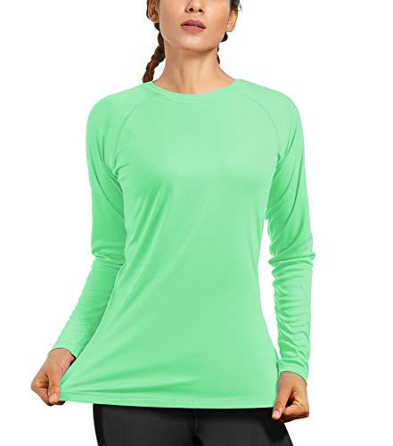 Women's UPF50+ Long Sleeve UV Sun Protection Shirts Quick Dry Rash Guard Swim Outdoor T-Shirt for Fishing Running…