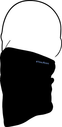 TrailHeads Fleece Neck Warmer/Gaiter- black / black