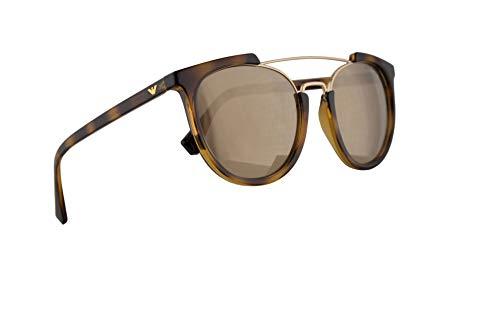 - Emporio Armani EA4122 Sunglasses Havana w/Light Brown Mirror Dark Gold Lens 53mm 50265A EA 4122